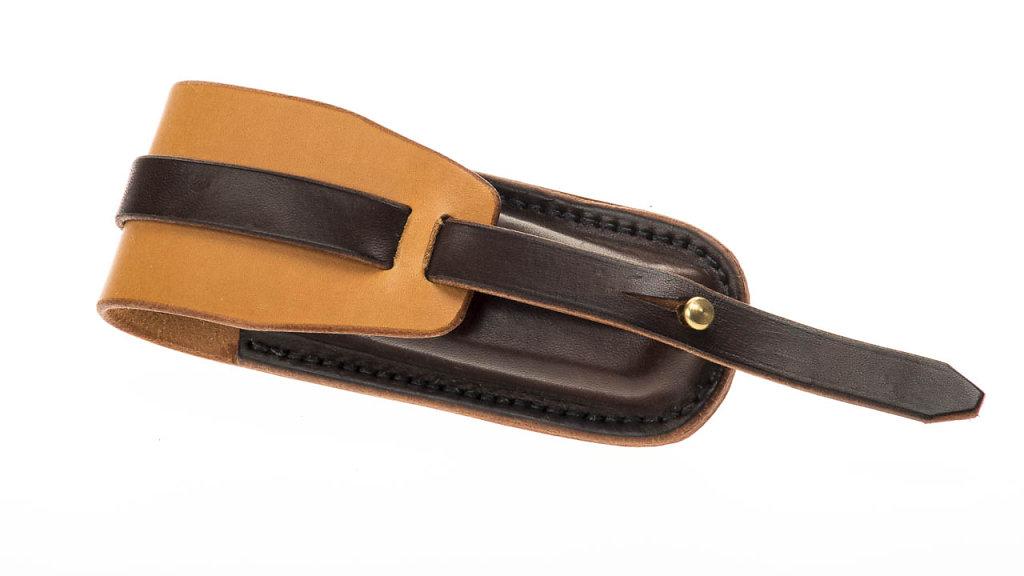zweifarbige Leathermantasche